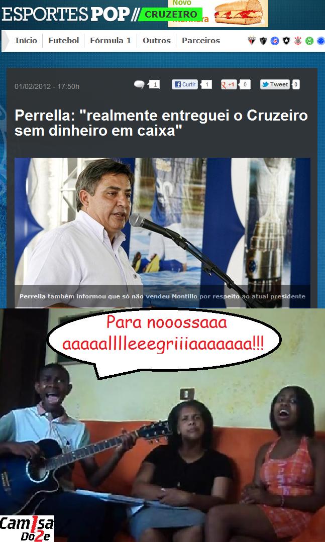 ALEGRIA O Cruzeiro faliu