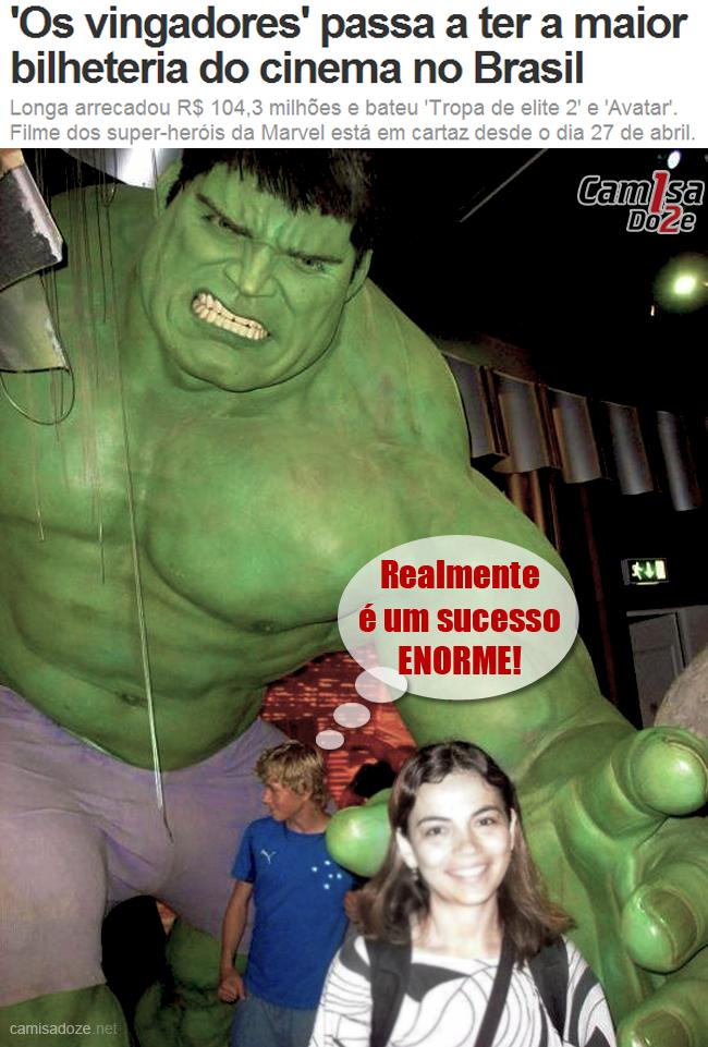 Hulk Motumbo McVish Motivo de cruzeirense ir ao cinema