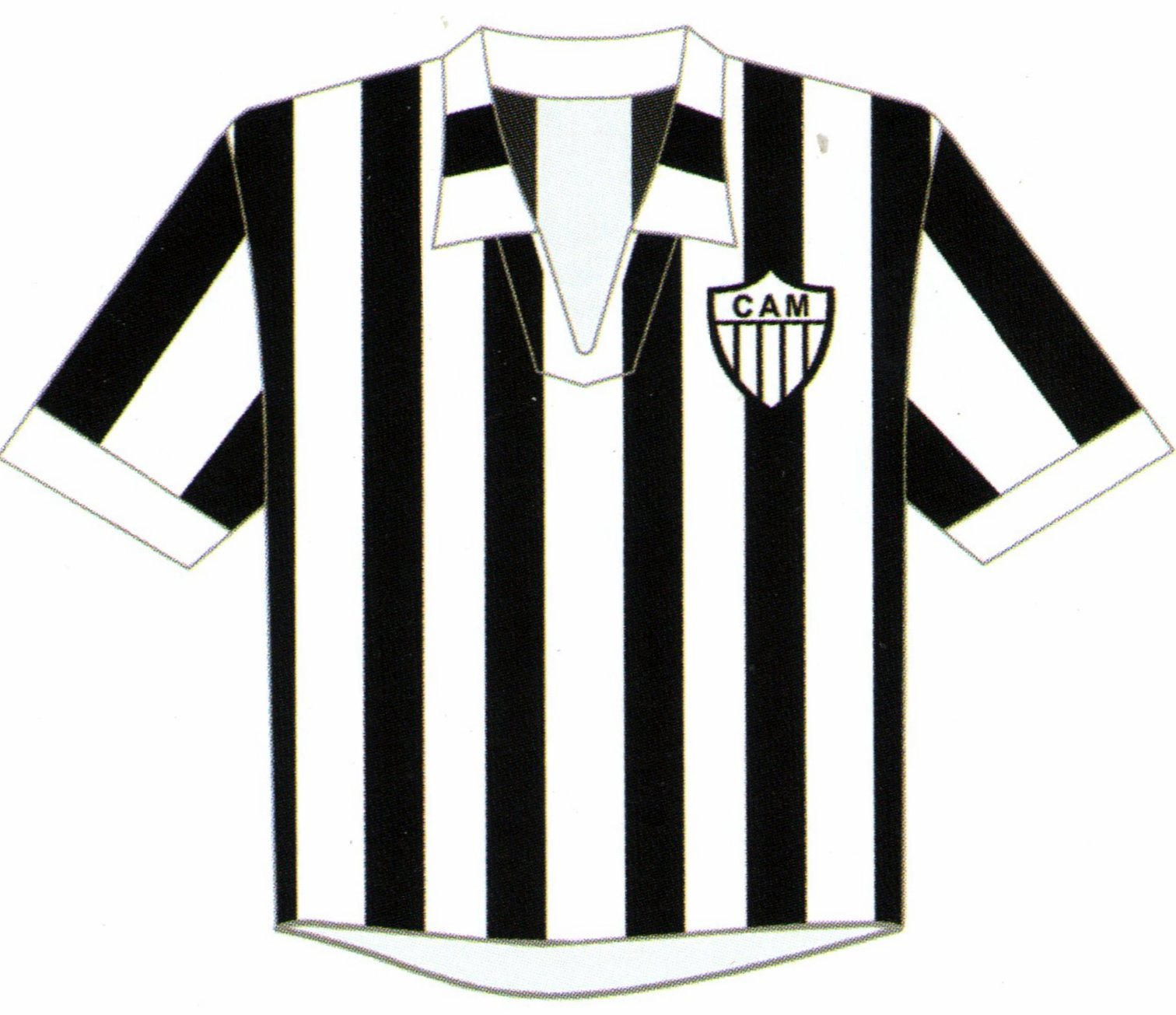 A Camisa Mais Bonita Na Historia Do Clube Atletico Mineiro 7ª Fase 1950 1959 Camisa Doze