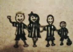 Elisane Flávia tatuou os filhos Pedro , Maria Luíza , Mateus e João Paulo